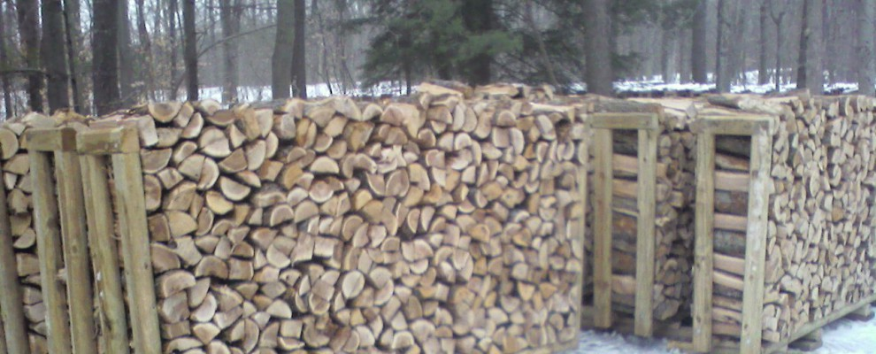 Wood Racks in Winter