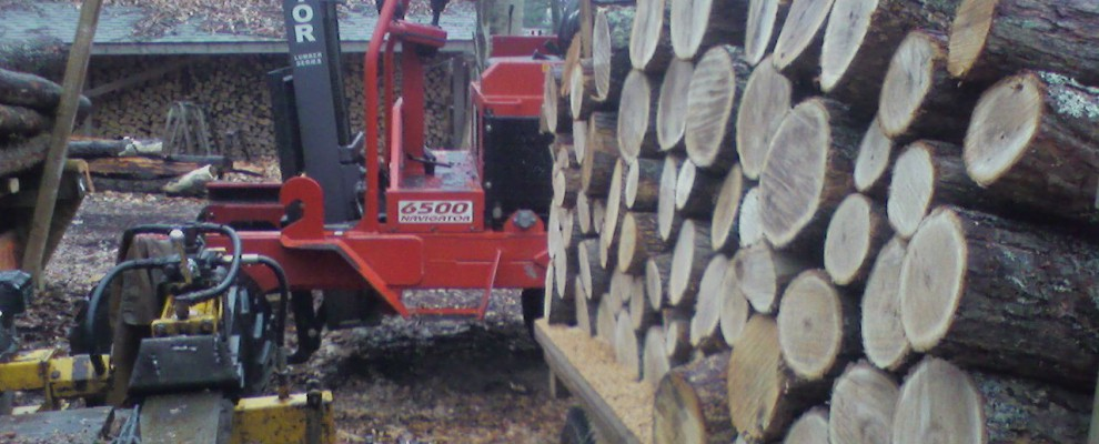 Wood Splitter and Forklift